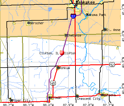 Clifton, IL map