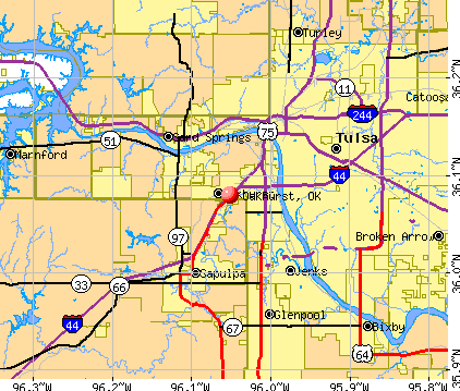 Oakhurst, OK map