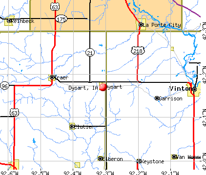 Dysart, IA map