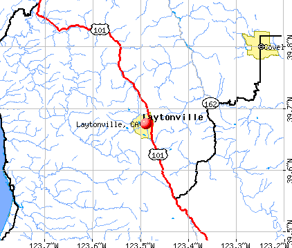 Laytonville, CA map