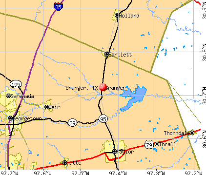 Granger, TX map