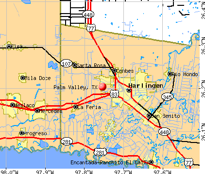 Palm Valley, TX map