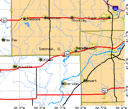 Somonauk, IL map