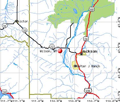 Wilson, WY map