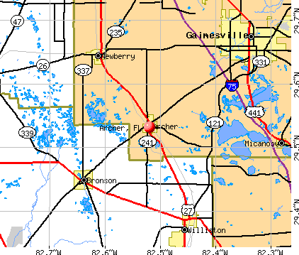 Archer, FL map