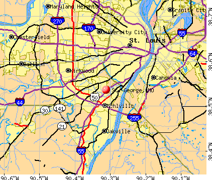St. George, MO map