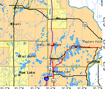 Stacy, MN map