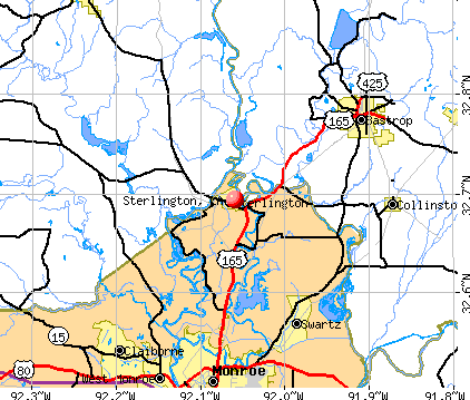 Sterlington, LA map