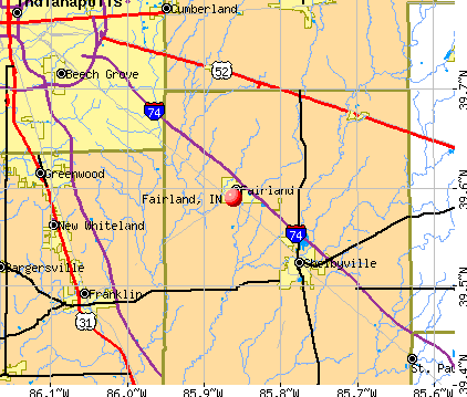Fairland, IN map