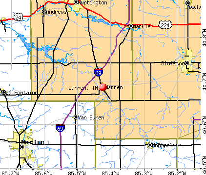 Warren, IN map