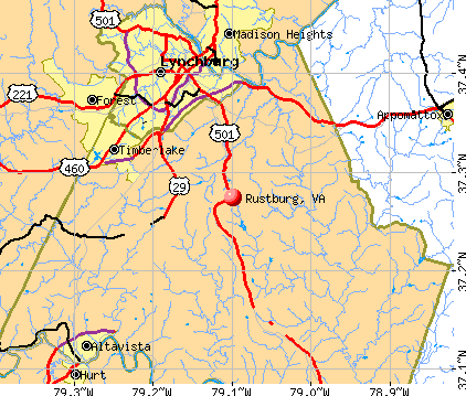 Rustburg, VA map