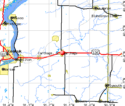 Carthage, IL map