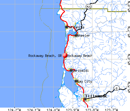 Rockaway Beach, OR map
