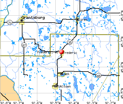 Frederic, WI map
