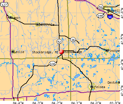 Stockbridge, MI map