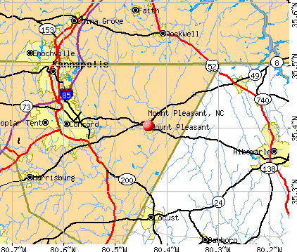Mount Pleasant, NC map
