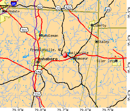 Franklinville, NC map
