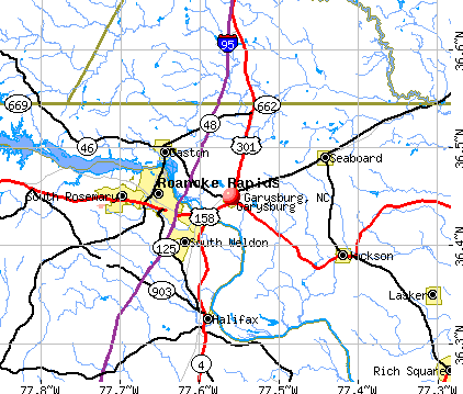 Garysburg, NC map