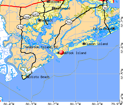 Seabrook Island, SC map