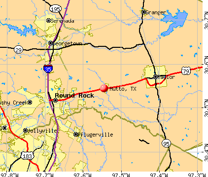 Hutto, TX map