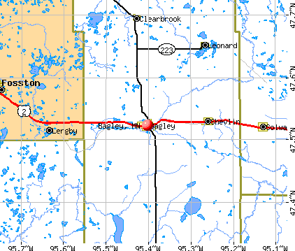 Bagley, MN map