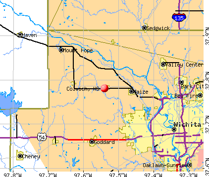 Colwich, KS map