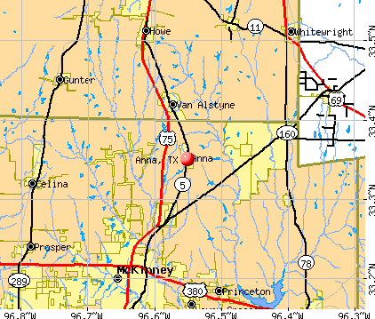 Anna, TX map