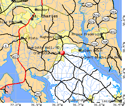 Charlotte Hall, MD map