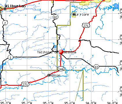Talihina, OK map