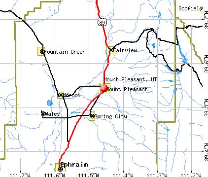 Mount Pleasant, UT map