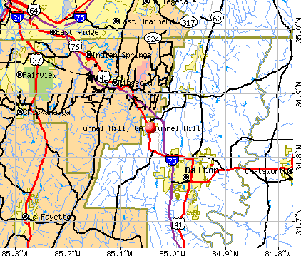 Tunnel Hill, GA map