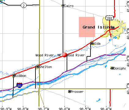 Wood River, NE map