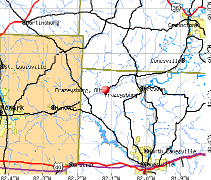 Frazeysburg, OH map