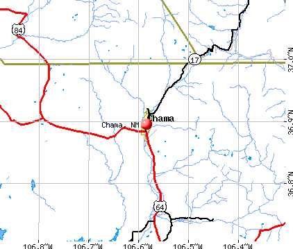 Chama, NM map