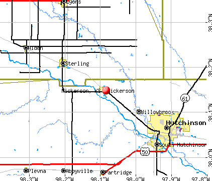 Nickerson, KS map