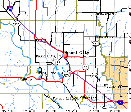 Mound City, MO map