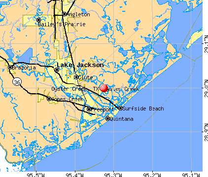 Oyster Creek, TX map