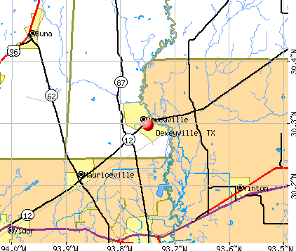 Deweyville, TX map