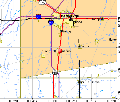 Tolono, IL map