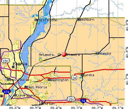 Metamora, IL map