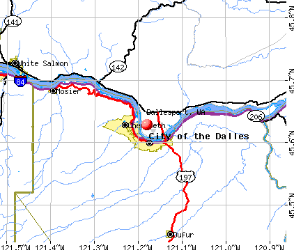 Dallesport, WA map