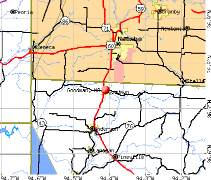 Goodman, MO map