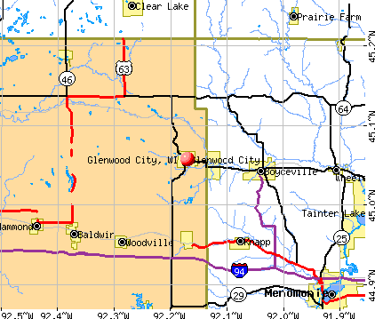 Glenwood City, WI map