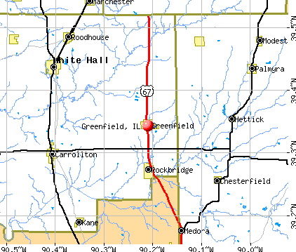 Greenfield, IL map