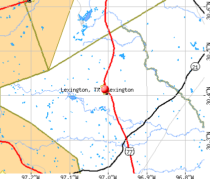 Lexington, TX map