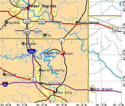 Solon, IA map