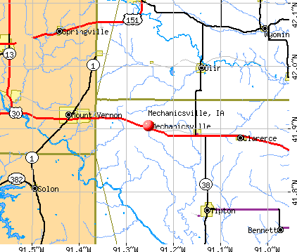 Mechanicsville, IA map