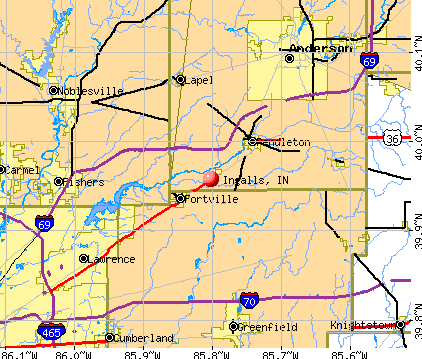 Ingalls, IN map