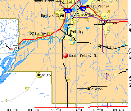 South Pekin, IL map