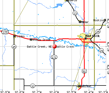 Battle Creek, NE map